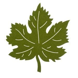 Filz-Deckchen in Blätterform, ca. 33x33cm