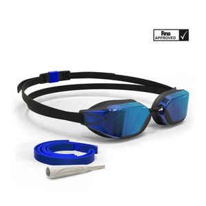 Schwimmbrille 900 B-Fast verspiegelt blau