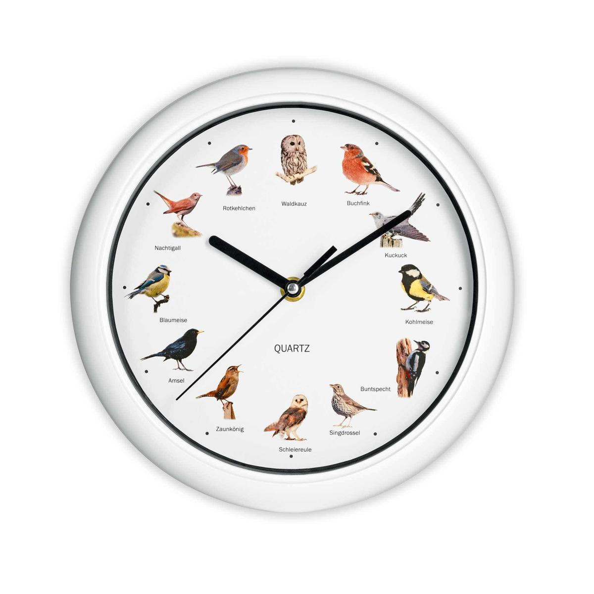 Bild 1 von EASYMAXX Wanduhr mit Vogelstimmen, Ø ca. 25cm