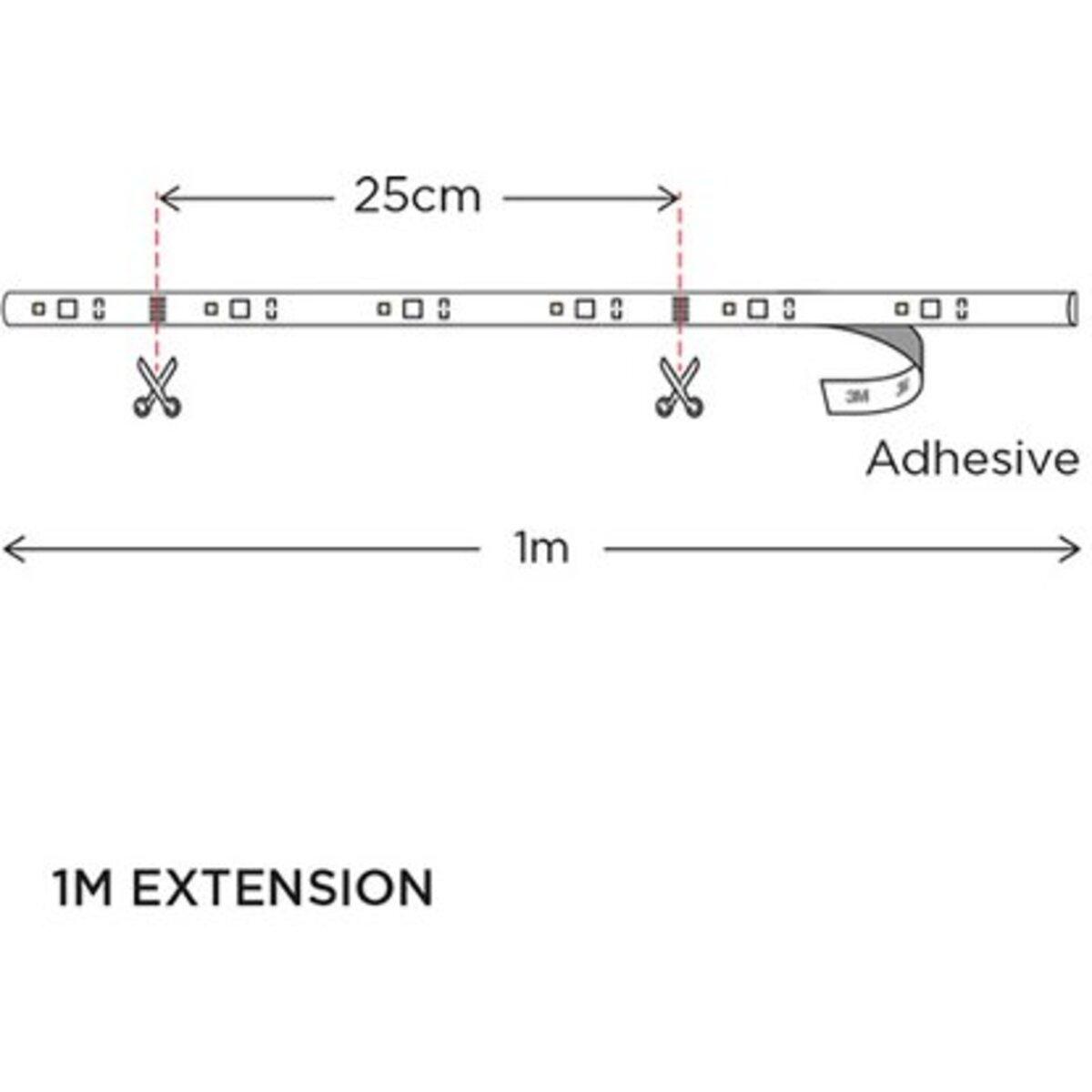 Bild 3 von WiZ Smart LED-Strip Wifi Verlängerung Licht- & Farbwechsel RGBW 13W 1 m