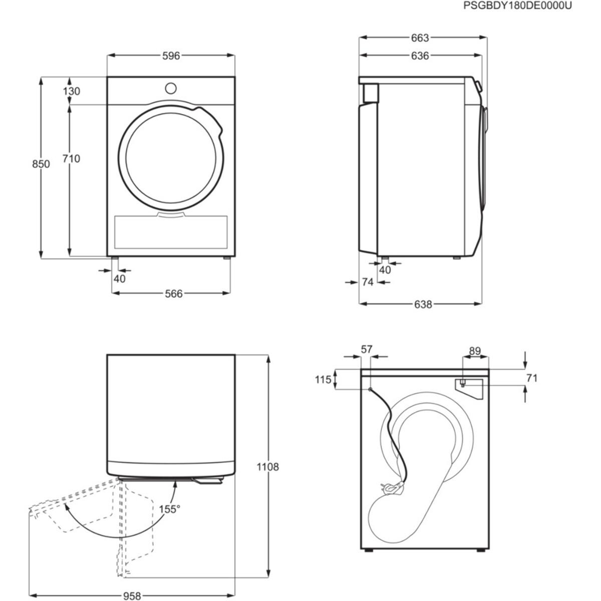 Bild 4 von AEG T9ECOWP Wäschetrockner (Kondensation, Wärmepumpe, freistehend, A+++, 8 kg, Serie 9000)