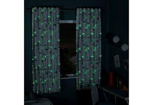 Gardine »MAGIC«, Delindo Lifestyle, verdeckte Schlaufen (1 Stück), HxB: 145x175, Leuchtet in der Nacht