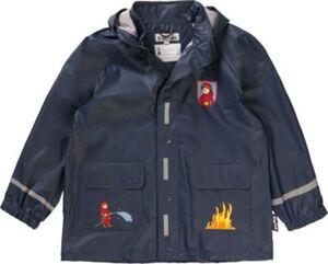 PLAYSHOES Kinder Regenjacke Feuerwehr  dunkelblau Gr. 80 Jungen Baby