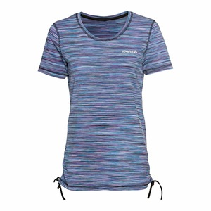 Damen-Sport-T-Shirt mit Kordel an Seitennähten