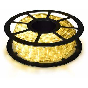 COSTWAY 10M LED Lichterschlauch Lichtschlauch Lichterkette fuer Aussen und Innen mit 360 LEDs Weihnachtsbeleuchtung Weihnachten Deko Warmweiss