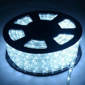 30M LED Lichterschlauch Lichtschlauch Lichterkette fuer Aussen und Innen mit 1080 LEDs Weihnachtsbeleuchtung Weihnachten Deko Kaltweiss - Costway