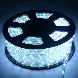 COSTWAY 20M LED Lichterschlauch Lichtschlauch Lichterkette fuer Aussen und Innen mit 720 LEDs Weihnachtsbeleuchtung Weihnachten Deko Kaltweiss