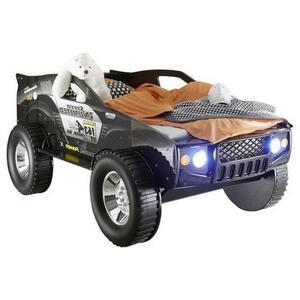 MID.YOU Autobett 90/200 cm schwarz  Jeep 90X200 CM Schwarz  Holzwerkstoff