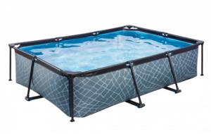 EXIT Frame Pool 300x200x65cm (12 V Kartusche Filterpumpe), grau