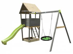 EXIT Aksent Spielturm mit Nestschaukel (FSC Mix 70%)