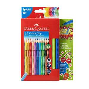 Faber Castell Buntstifte, 12+2, inklusive 2 Filzstiften