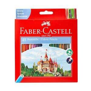 Faber Castell Buntstifte, 48 Stück, inklusive Anspitzer
