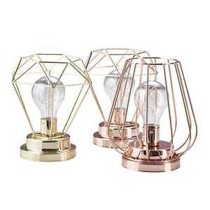 """LED Tischlampe """"Gitter"""", ca. 15 x 15 x 17 cm, verschiedene Farben und Formen"""