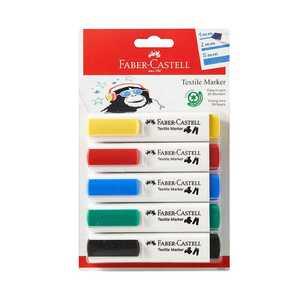 Faber Castell Textilmarker, 5 Stück