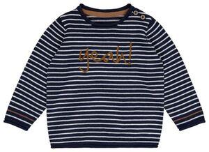 HEMA Baby-Pullover, Streifen, Yeah Blau