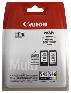 HEMA 2er-Pack Druckerpatronen Canon PG-545/CL-546, Schwarz/farbig