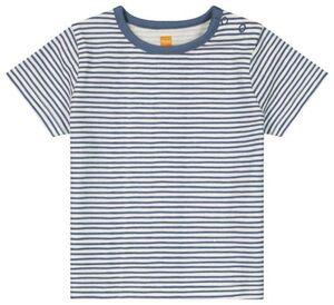 HEMA Baby-T-Shirt, Streifen Eierschalenfarben
