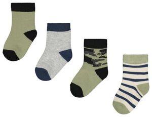HEMA 4er-Pack Baby-Socken, Tarnfleckenmuster Grün