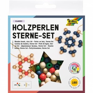 Holzperlen Sterne-Set Classic