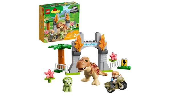 LEGO DUPLO Jurassic World 10939 Ausbruch des T-Rex und Triceratops