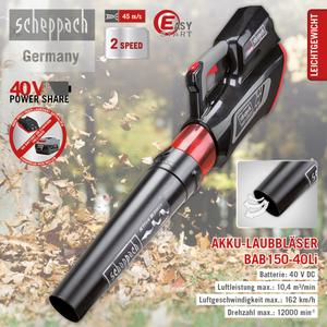 Scheppach Akku-Laubbläser BAB150-40Li