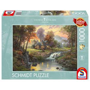 Schmidt Spiele 1.000 -Teile Puzzle Holzhaus am Bach