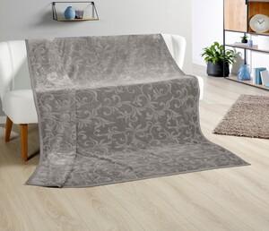 Bella Casa XXL-Kaschmir-Touch-Decke, ca. 180 x 220 cm, Stone