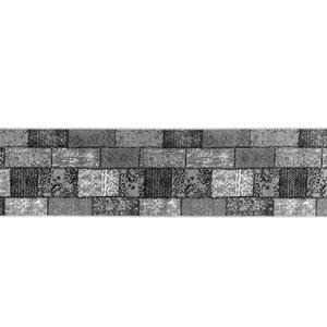 "Lifetex XXL-Teppichläufer ""Shiraz"", ca. 70 x 300 cm - Karo Stepp Grau"