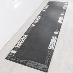 "Lifetex XXL-Teppichläufer ""Shiraz"", ca. 70 x 300 cm - Bordüre Welle Anthrazit"