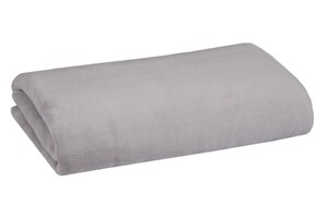 Bella Casa XXL-Mikrofaser-Flauschdecke, ca. 220 x 240 cm, Silbergrau
