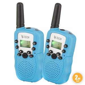 X4-TECH Walkie Talkie T-388, Blau - 2er Set