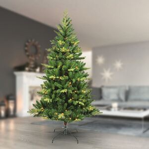 Künstlicher Weihnachtsbaum mit 200 LED-Lichterkette 180cm