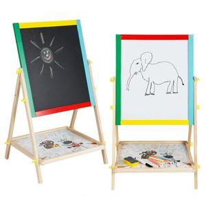 Spieltafel doppelseitig Kreidetafel & Whiteboard 40x65x33cm
