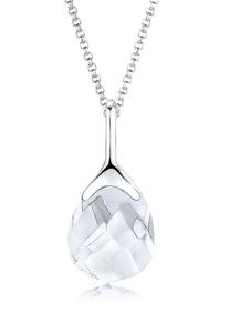 Elli Kette mit Anhänger Bergkristall Tropfen Klassisch 925 Silber
