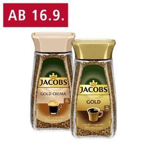 Jacobs Gold oder Crema jedes 200-g-Glas