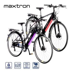 Alu-Elektro-Trekkingrad MT11/MT12 28er • Fahrunterstützung bis ca. 25 km/h • Li-Ionen-Akku mit hochwertigen Markenzellen 36 V/11,6 Ah, 418 Wh • Reichweite: bis ca. 100 km (je nach Fahrweise)