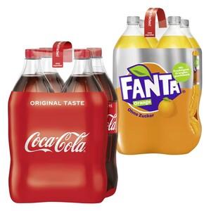Coca-Cola*, Fanta oder Sprite (*koffeinhaltig), versch. Sorten, 4 x 1,5 Liter, jede Packung (+ 1,00 Pfand)