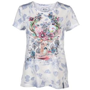 Damen Trachtenshirt mit Print und Glitzersteinchen