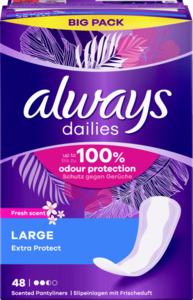 Always dailies Large Extra Protect Fresh Slipeinlagen Big Pack