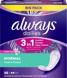 Always dailies Normal Fresh & Protect Fresh Slipeinlagen Big Pack