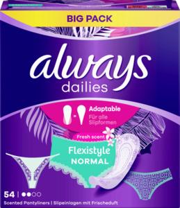 Always Dailies Flexistyle Normal Fresh scent Slipeinlagen Big Pack