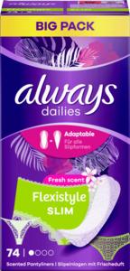 Always Dailies Flexistyle Slim Fresh scent Slipeinlagen Big Pack
