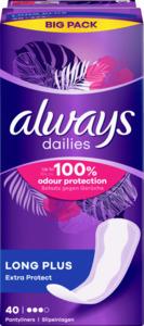 Always Dailies Long Plus Extra Protect Slipeinlagen Big Pack