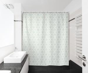IDEENWELT Textiler Duschvorhang Grafisch