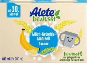 Alete bewusst Milch-Getreide-Mahlzeit Banane