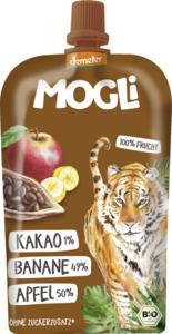 MOGLi Bio Fruchtpüree Kakao, Banane, Apfel