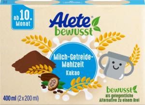 Alete bewusst Milch-Getreide-Mahlzeit Kakao