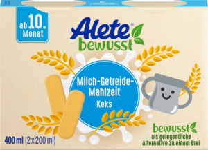 Alete bewusst Milch-Getreide-Mahlzeit Keks ab 10. Monat