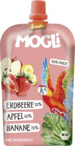 MOGLi Bio Fruchtpüree Erdbeere, Apfel, Banane
