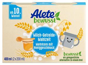 Alete bewusst Milch-Getreide-Mahlzeit 6-Korn mit Honiggeschmack